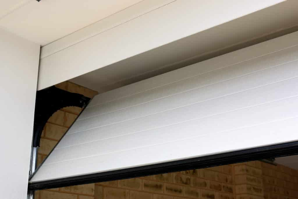 Flush-fit style garage door opening