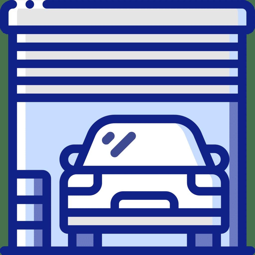Residential garage door icon
